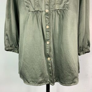 Sundance Tops - Sundance 100% Silk Green Button Down Shirt EUC